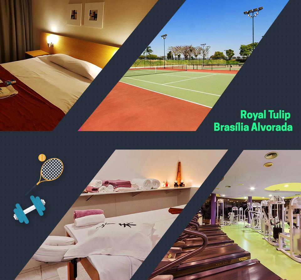 Brasília e exercícios físicos no hotel